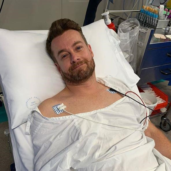 Grant was in hospital after sustaining a back injury. *(Image: Instagram/chezzidenyer)*