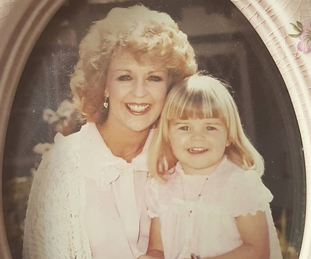 And daughter Lauren posted her own sweet throwback snap of her and mum Patti back in the day. *(Image: Instagram @laurenelisenewton)*