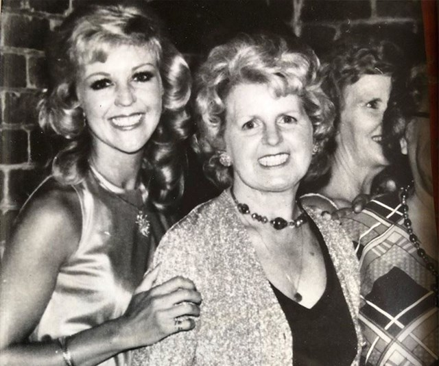 """""""She was my best friend and I just loved her so much. Always with me x."""" Patti Newton shared an adorable black and white throwback photo of herself and her late mother at her 30th birthday bash *(Image: Instagram @pattinewtonofficial)*"""