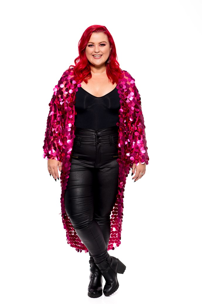 """**ELLEN REED**  STATE: QLD  YEAR: 2016 <br><br> Ellen is best known as Team Jessie's powerhouse grand finalist from season 5, where she placed fourth. Having been told by various music executives she's """"too fat to be a star"""", she's back to prove them wrong."""