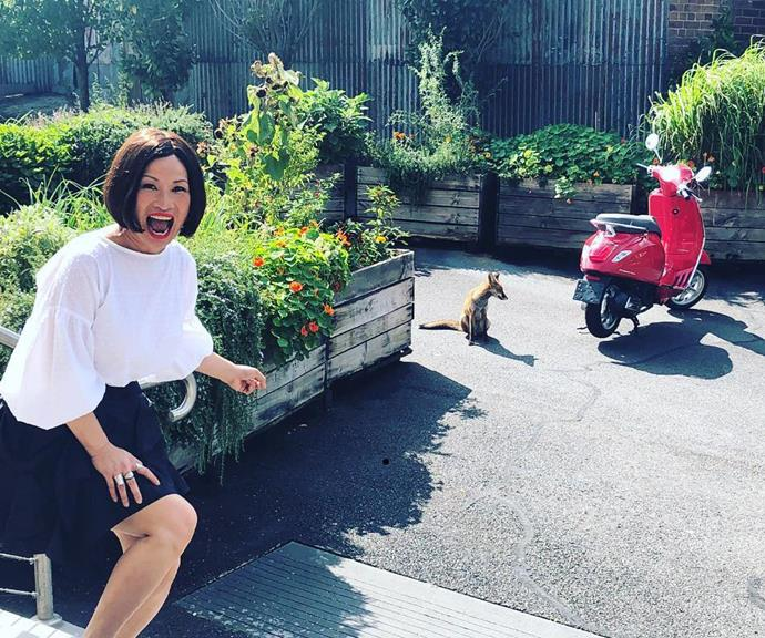 Poh in MasterChef's famous veggie garden. *(Image: @pohlingyeow/Instagram)*