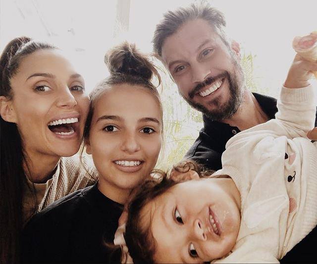 And soon there will be five! *The Bachelor*'s Snezana Wood shared this beautiful snap with daughters Eve and Willow with hubby Sam Wood. *(Image: Instagram @snezanawood)*