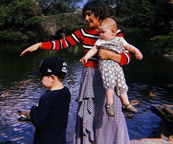 And in a sweet post of his own, Hamish Blake cheered on his wife with this cute picture of Zoe and their kids Sonny and Rudi. *(Image: Instagram @hamishblakeshotz)*