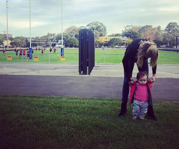 For sports journalist Erin Molan it was Bring Your Daughter To Work Day this Mother's Day. Eliza has grown up so much! *(Image: Instagram @erin_molan)*