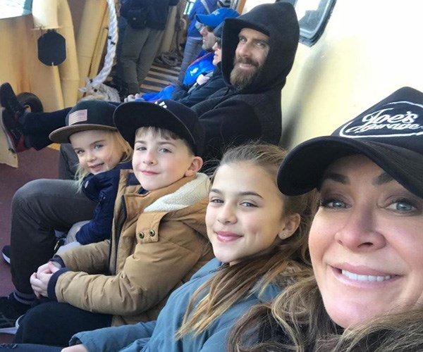 It was a family day out on the ferry for Steve 'The Commando' Willis, Michelle Bridges and the kids. *(Image: Instagram @commandosteve)*
