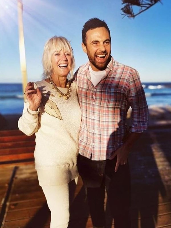 Jules may be one of the special ladies in his life but *Married At First Sight*'s Cam Merchant made sure to honour another special lady, his mum, by celebrating on Sydney's northern beaches. *(Image: Instagram @cammerchant)*