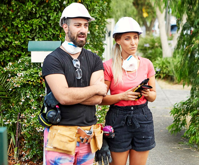 """Pete and Courtney were """"confused"""" by the producers on *House Rules* (Image: Channel Seven)."""