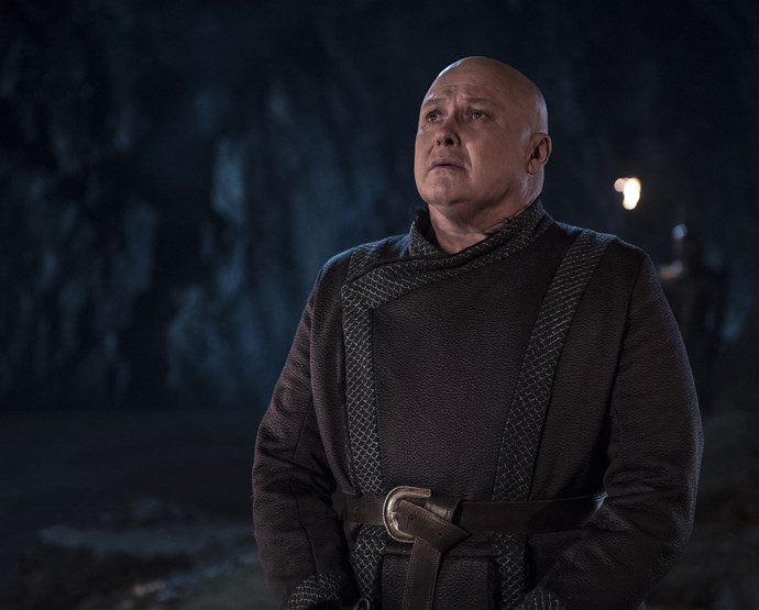"""**LORD VARYS**   He talked his way into becoming Daenerys' adviser, and it was his chatter that cost him his life in the end. In Season Seven, Daenerys cautioned Lord Varys, """"If you betray me I'll burn you alive,"""" after he promised her his allegiance. Upon learning of Jon Snow's parentage and his claim to the Irone Throne, he passed on the information, and was then executed by Dany's last remaining dragon, Drogon."""