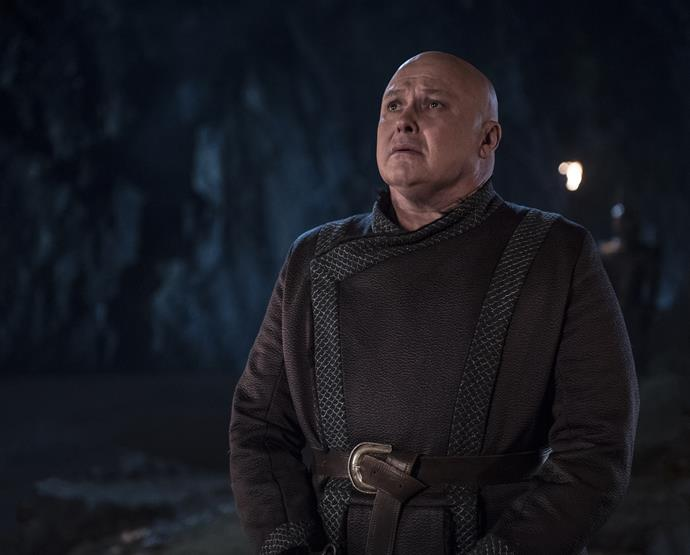 "**LORD VARYS**   He talked his way into becoming Daenerys' adviser, and it was his chatter that cost him his life in the end. In Season Seven, Daenerys cautioned Lord Varys, ""If you betray me I'll burn you alive,"" after he promised her his allegiance. Upon learning of Jon Snow's parentage and his claim to the Irone Throne, he passed on the information, and was then executed by Dany's last remaining dragon, Drogon."