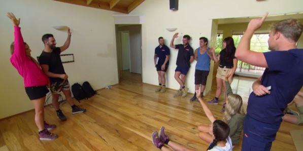The teams agreed to let Pete and Courtney leave the tent in a group vote.