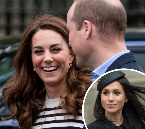 The survey revealed Kate is more popular than Meghan. *(Image: Getty)*