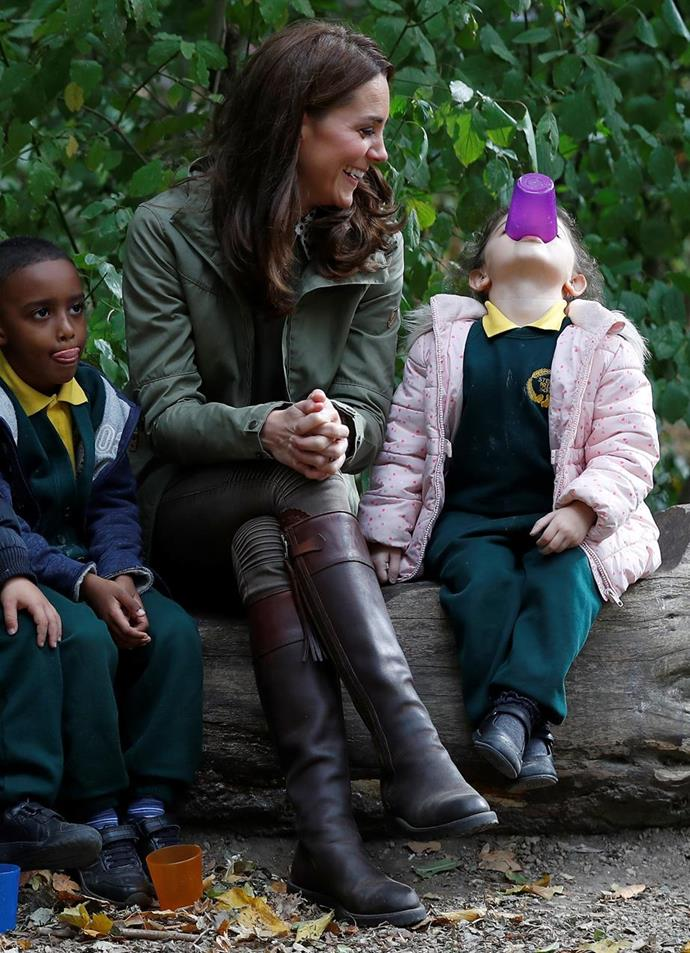 Kate's a natural with kids, and in the garden! *(Image: Getty)*