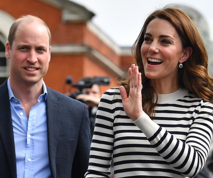 The Duke and Duchess dropped into Frogmore Cottage to meet their new nephew. *(Image: Getty)*