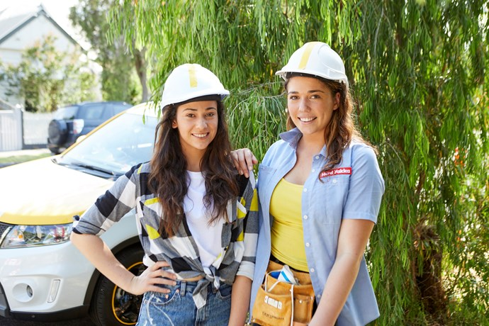 Mikaela and Eliza believe they have what it takes to win House Rules (Image: Channel Seven).