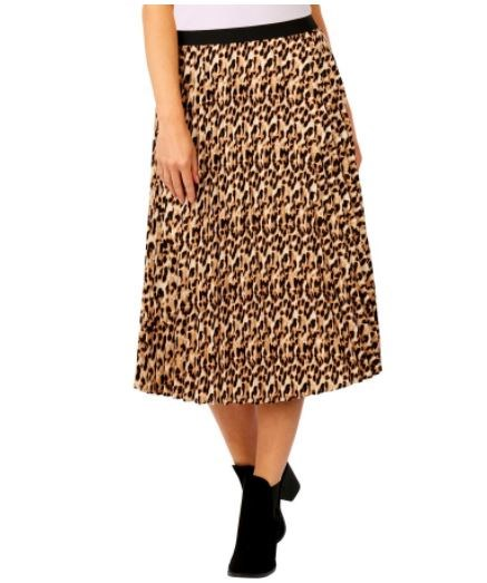 "Big W's leopard print skirt looks runway ready, and at $20, we can't fault it! Buy it [here](https://www.bigw.com.au/product/b-collection-women-s-leopard-print-pleated-skirt-multi/p/1121339-leopard/|target=""_blank""