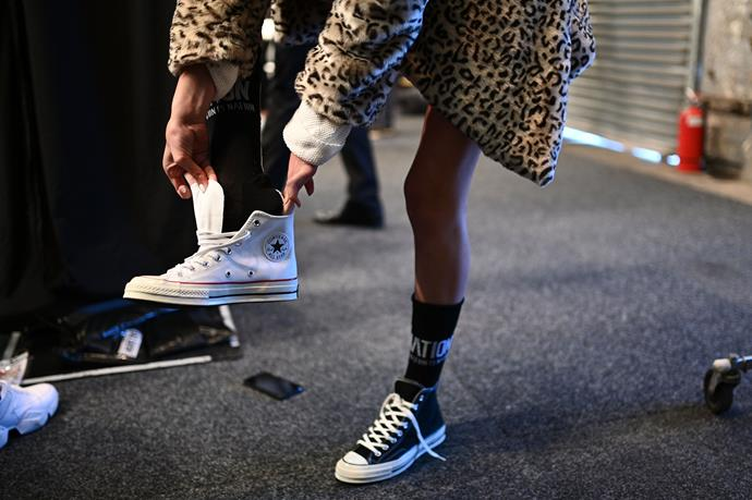 Leopard print is being seen on (and off!) the runway this year. *(Image: Getty)*