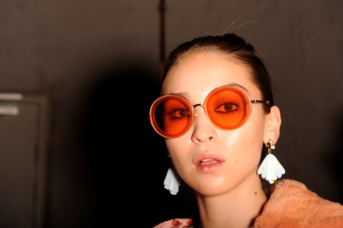 Retro sunnies are making a strong comeback at Fashion Week this year! *(Image: Getty)*