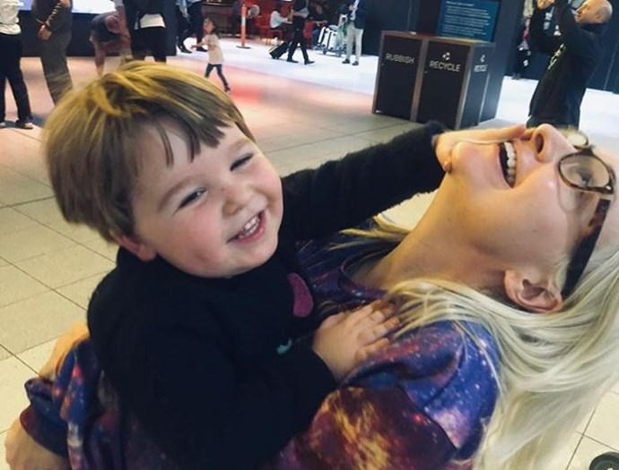 Kate and Ernie's playful farewell at the airport, ahead of Eurovision (Image: *Instagram/@katemillerheidke).*