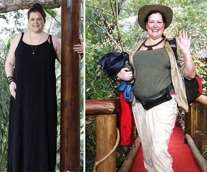 In 2017, Tziporah Malkah weighed 118kg as she entered the *I'm A Celebrity* jungle. Now, she looks completely different. *(Images: Network Ten)*