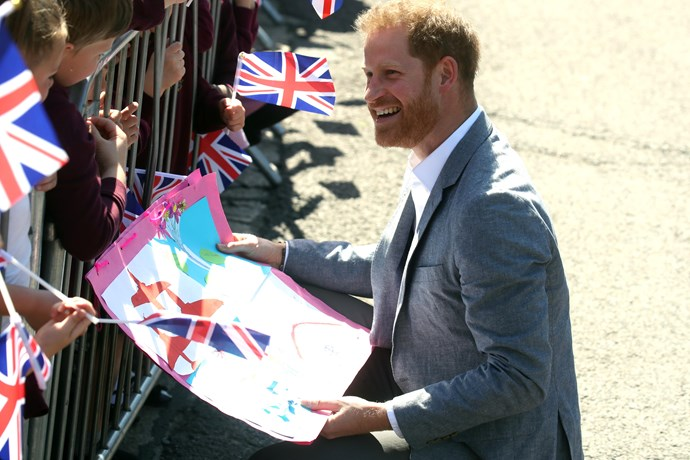 Cards-galore! The Prince has a lot of reading to do! *(Image: Getty)*