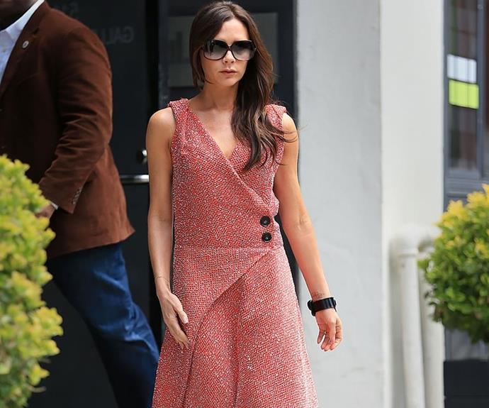Sleek, stylish, sophisticated: Victoria Beckham oozes femininity. *(Image: Getty Images)*