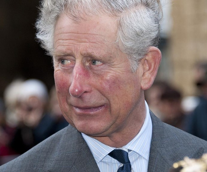 Prince Charles looks like he's nervous to see his more feminine side. *(Image: Getty Images)*