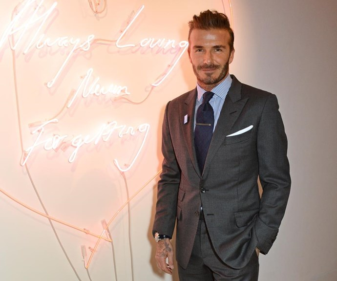 David Beckham may be known for being a bit more metrosexual when it comes to his style... *(Image: Getty Images)*