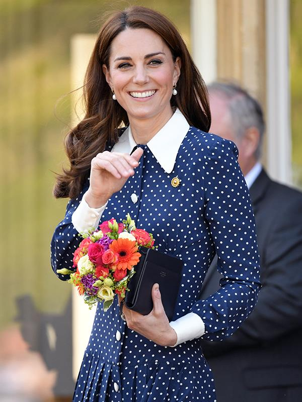 """Duchess Catherine says that Prince Louis is keeping them """"on their toes."""""""