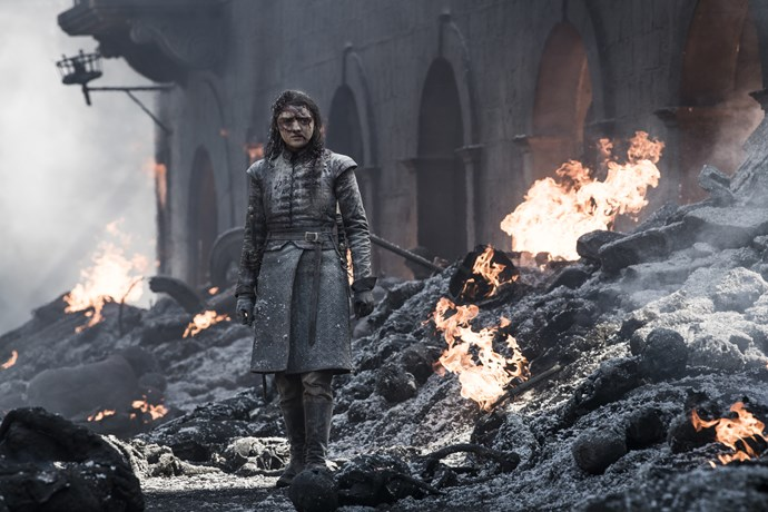 Arya was caught in the rubble, and we don't imagine she's thrilled about it (Image: HBO)
