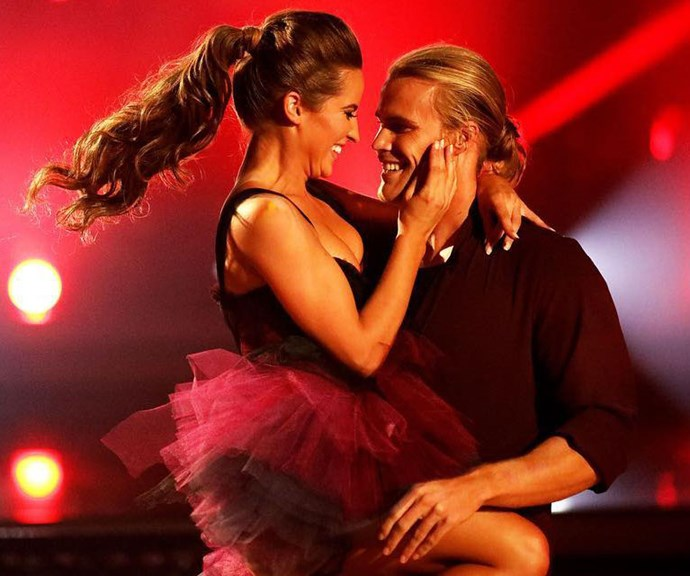 The pair lit up the dance floor with their sizzling chemistry. *(Image: Channel 10)*