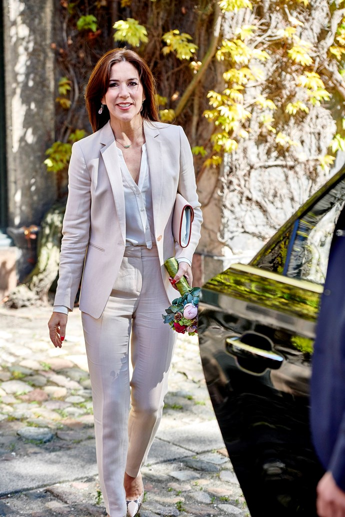 The Princess looked all kinds of chic as she visited the University of Copenhagen.