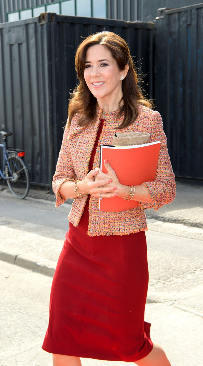 Even the folder matches! Our favourite Aussie royal couldn't look any better.