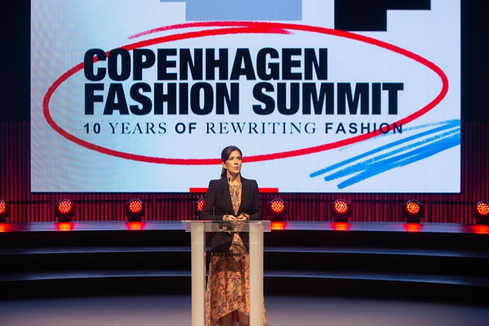 We'll just be over here waiting to see more of Crown Princess Mary at the Fashion Summit in Copenhagen!