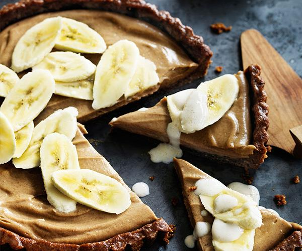 """And for dairy-free, vegan guests, they'll go crazy for this [vegan banoffee pie](https://www.womensweeklyfood.com.au/recipes/banoffee-pie-29453 target=""""_blank"""")."""
