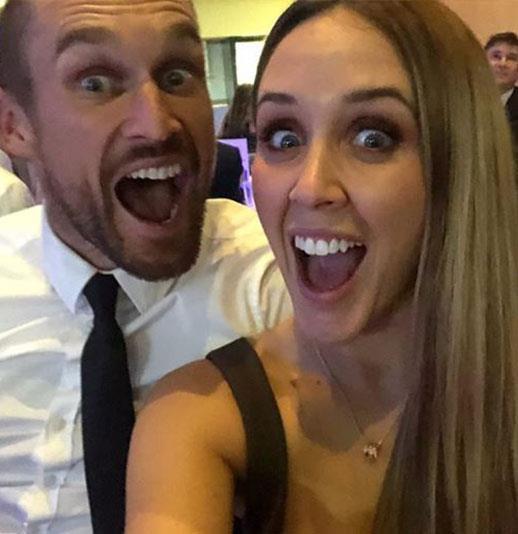 And baby makes three! Jono and his partner Bec are expecting their first child together.