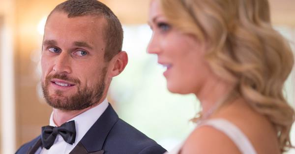 Jono and Clare on their wedding day during *MAFS*.