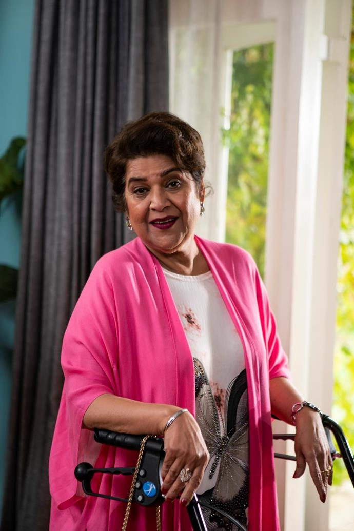**Kumud Merani as Harry's mum Manju** <br><br> Beloved SBS anchor and radio producer Kumud stars as Harry's mum, Manju.  <br><br> Kumud is an award-winning Executive Producer of SBS Radio Hindi and she was the first female anchor of an Asian background on *SBS Worlds News.* She also had a role in the 2015 film *UNindian.*