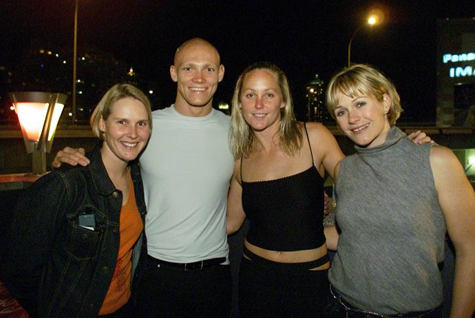 Zali (right) with Susie O'Neill, Michael Klim and Liz Weekes in 2000.