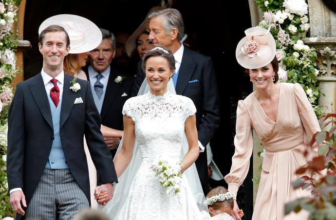 Pippa and her husband James are likely to attend Lady Gabriella's wedding on Saturday.