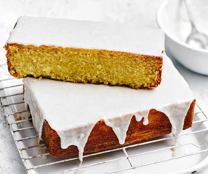 "**Vanilla cake with vanilla bean icing** <br><br> This simple vanilla cake is delicious on its own, or as the perfect base for creative birthday cakes or exciting flavour variations. <br><br> See the full *Australian Women's Weekly* recipe [here](https://www.womensweeklyfood.com.au/recipes/vanilla-cake-10231|target=""_blank"")."