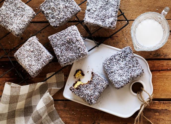 "**Classic lamingtons** <br><br> Nothing beats fluffy sponge dipped in chocolate and rolled in coconut - fact. And while we carry out the ultimate display of Australian democracy, these lamingtons will hit the spot. <br><br> See the full *Australian Women's Weekly Food* recipe [here](https://www.womensweeklyfood.com.au/recipes/classic-lamingtons-17017|target=""_blank"")."