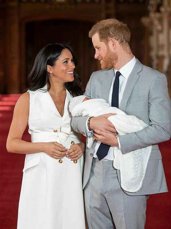 """As they [debuted their adorable newborn son](https://www.nowtolove.com.au/royals/british-royal-family/prince-harry-photo-archie-55687