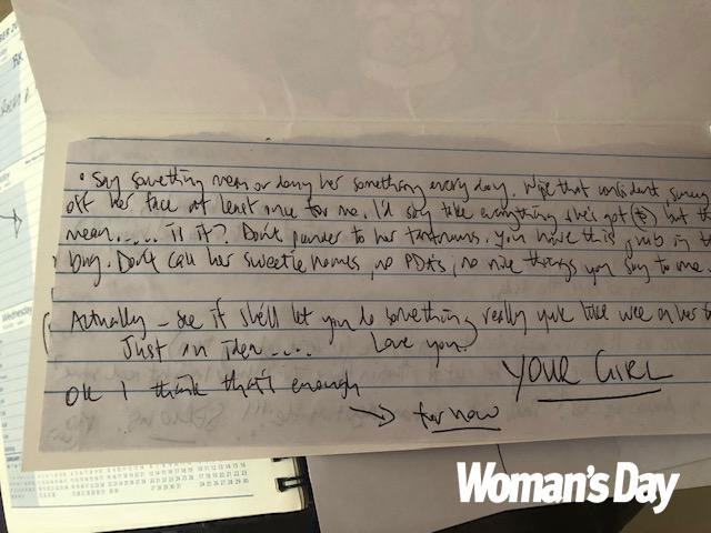 """The explicit letter included disturbing """"rules"""" like """"don't go down on her"""". *(Image: Exclusive/ supplied)*"""