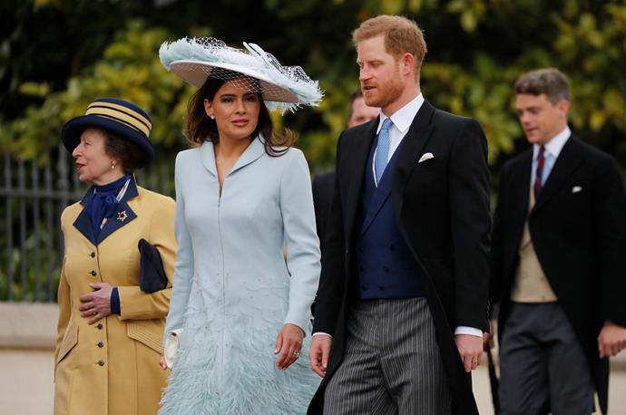 And here he is! Brand new dad Harry arrived at the event alongside Lady Frederick Windsor (aka Sophie Winkleman) and Princess Anne.
