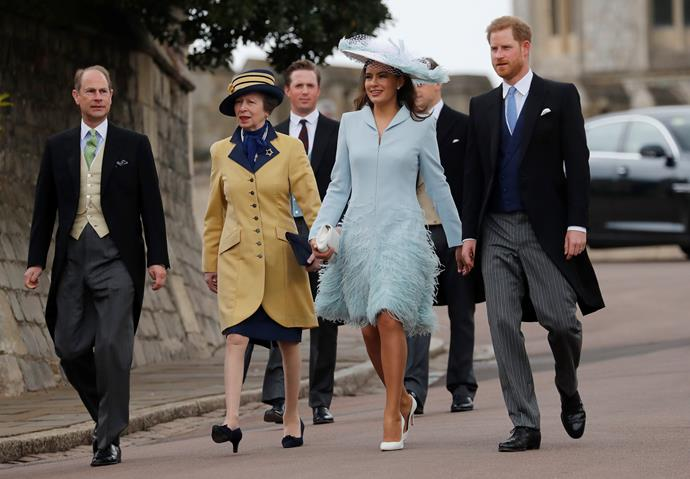 Now there's a sight for sore royal eyes! Sophie's blue feathered dress is a stand out!