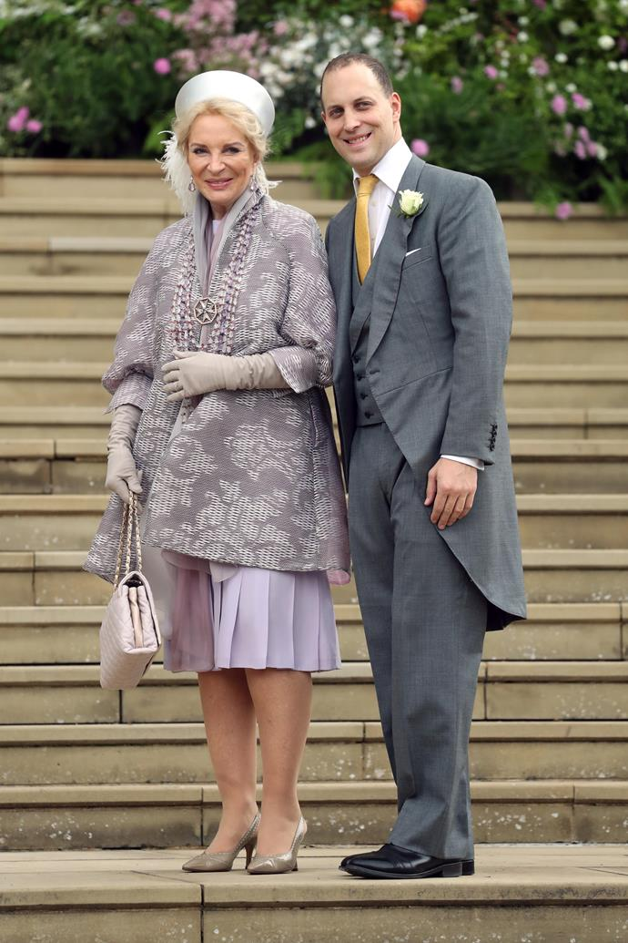 Meanwhile mother of the bride Princess Michael of Kent also looked beautiful in a lilac ensemble.
