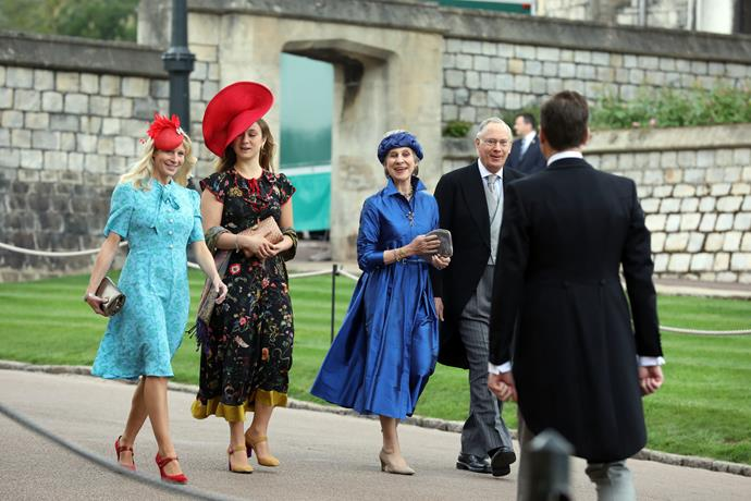 And the Duke and Duchess of Gloucester (centre right) helped add a splash of colour to the festivities.