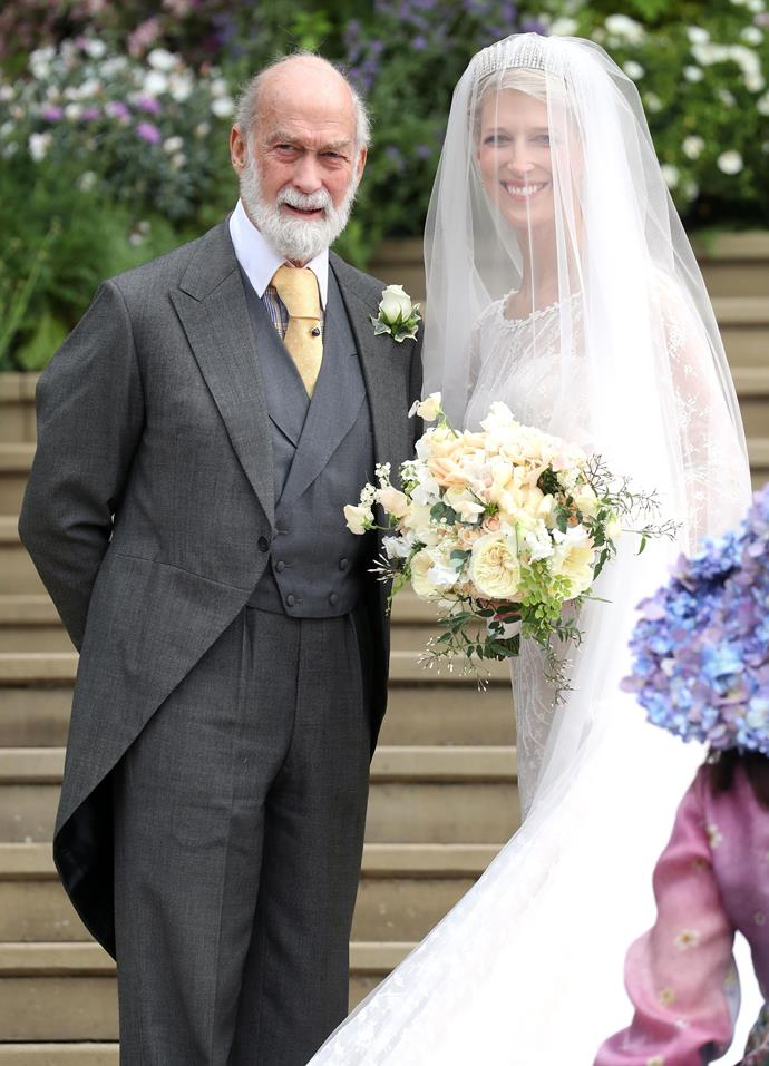 Dad Prince Michael couldn't look prouder of his soon-to-be-wed daughter!