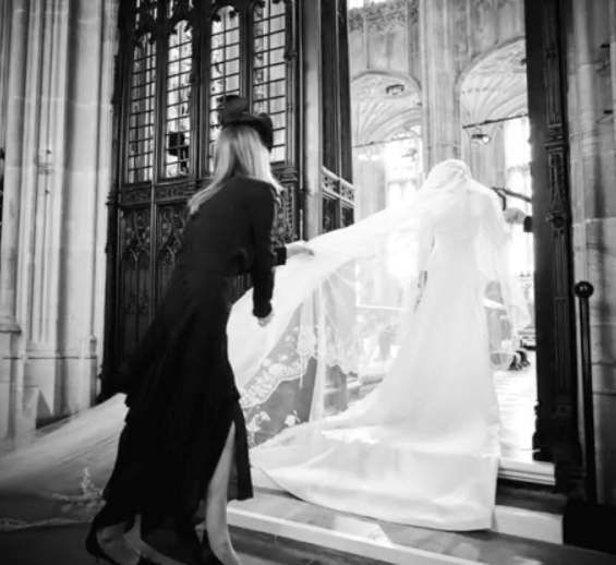 The pictures provide an incredible rare insight into the royal wedding.