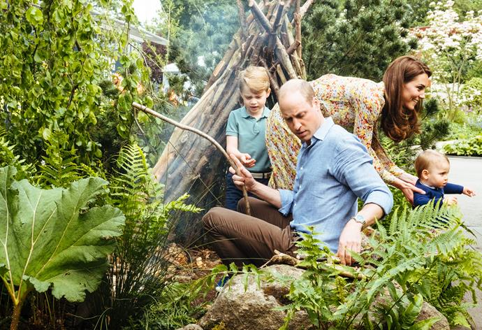 Too cute! The Cambridge family look like they're having the ultimate outdoor experience!